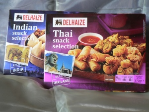 delhaize indian and thai snacks